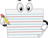 Paper Mascot — Stock Photo