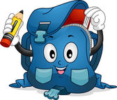 Schoolbag Mascot — Stock Photo