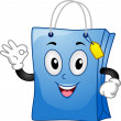Shopping Bag Mascot — Stock Photo