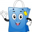 Shopping Bag Mascot — Stock Photo #14532169
