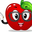 Apple Mascot - Foto Stock