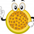 Passion Fruit Mascot — Stock Photo