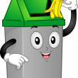 Trashcan Mascot - Stock Photo