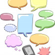 Cell phone Speech Bubbles - Zdjęcie stockowe