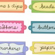 Crafts Labels — Stock Photo