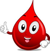 Blood Mascot — Stock Photo