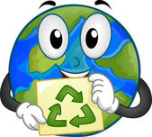 Earth Mascot — Foto Stock