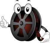 Film Reel Mascot — Stock Photo