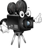 Video Camera Mascot — Stock Photo