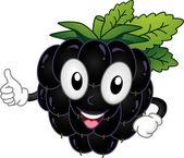 Blackberry Mascot — Stock Photo