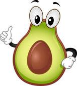 Avocado Mascot — Stock Photo