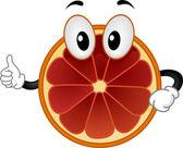 Blood Orange Mascot — Stock Photo