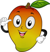 Mango Mascot — Stock Photo