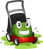 Lawnmower Mascot — Stock Photo