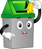垃圾桶吉祥物 — 图库照片