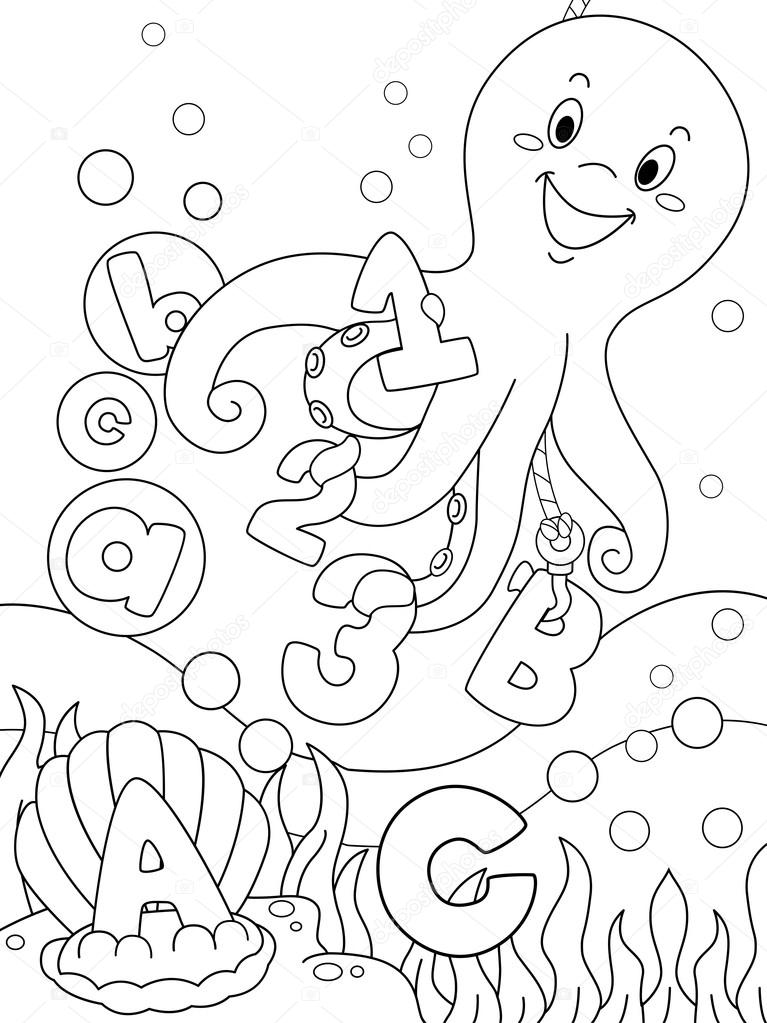 underwater coloring page stock photo 169 lenmdp 14532395