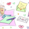 Love Letter Design Elements — Stock Photo