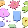 Speech Balloon Design Elements - Stok fotoraf
