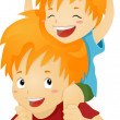 Piggy Back Ride — Stock Photo