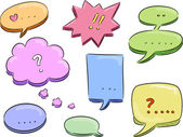 Speech Balloon Design Elements — Stock Photo