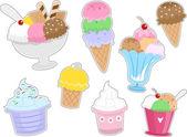 Ice Cream Stickers — Stock Photo