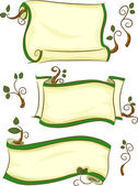 Eco-friendly Scrolls — Foto Stock