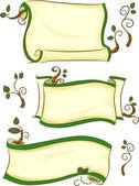 Pergaminhos de eco-friendly — Foto Stock