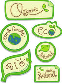 Eco-friendly Stickers — Foto Stock