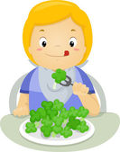 Brocolli Kid — Stock Photo