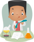 Laboratory Kid — Stock Photo