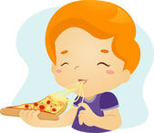 Pizza Kid — Stock Photo