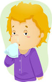 Runny Nose Kid — Stock Photo