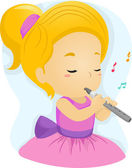 Fluit meisje — Stockfoto