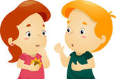 Chatting Kids — Stock Photo