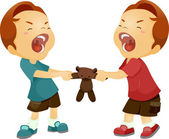 Geschwister-rivalität — Stockfoto