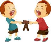 Rivalidad entre hermanos — Foto de Stock