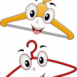Stock Photo: Hanger Mascots