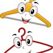 Hanger Mascots — Stock Photo