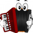Accordion Mascot — Stock Photo