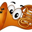 French Horn Mascot — Stock Photo #16348543