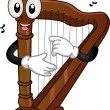 Harp Mascot - Stock Photo