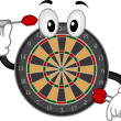 Dartboard Mascot - Stock Photo