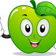 Apple Mascot — Stock Photo