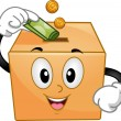 Donation Box Mascot — Stock Photo