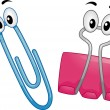 Paper Clips Mascot - Stock Photo
