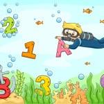 Underwater Scene with ABC — Stock Photo