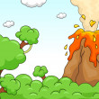 Volcano Eruption Scene — Photo