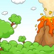 Volcano Eruption Scene — Stock Photo #16349075