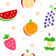 Stock Photo: Fruit Stencil Background