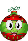 Christmas Ball Mascot — Stock Photo